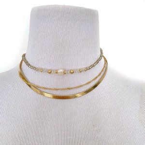 NEW 8Other Reasons Amelia Choker Layered Necklace